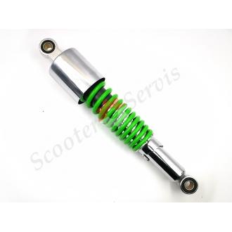Амортизатор газомасляний 325 мм, вухо-вухо 12мм, регульований, мотоцикл, скутеретта