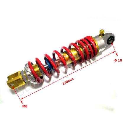 Амортизатор TMMP регулируемый с подкачкой ухо-вилка 270мм