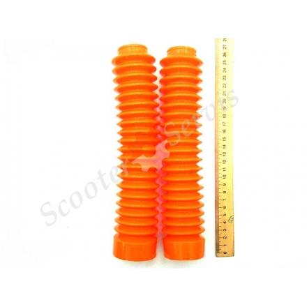 Гофри, пильовики передніх амортизаторів (пір'я), силіконові кольорові, довжина 195 мм - 255 мм, діаметр 45 мм