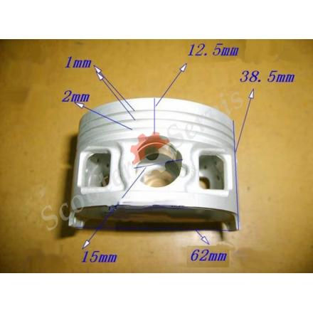 Поршень двигуна 162FMJ, YX150, Honda CG150, LF150, LF150-L, LF150-9R STD (стандарт 62мм)
