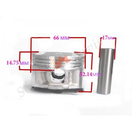 Поршень в зборі двигун мотоцикла Suzuki DR200, STD (66mm) +0.25, +0.50, +1.0