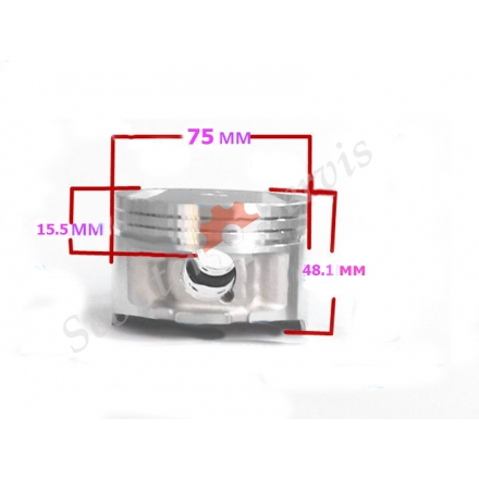 Поршень в зборі Honda Ray 600, STEED 600, STD (75mm) +0.25, +0.50, +1.0