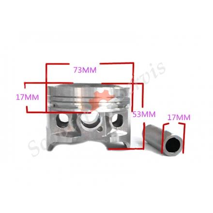Поршень в зборі, Honda, XR 250, XR 250R, BAJA, Motard, стандартний (діаметр 73 мм) і ремонтний розміри