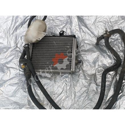 Радіатор охолодження рідини 45320 з трубками і бачком в зборі скутер Aprilia Leonardo