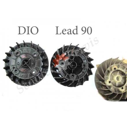 Крильчатка повітряного охолодження, Honda DIO, Lead 90, для Хонда Діо, Леад 90, японський оригінал