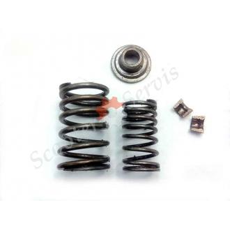 Пружины, сухари, клапана, (комплект), двигатель GY6, китайские скутера, 125-150 кубов, Б/У