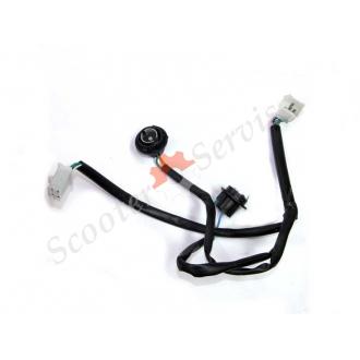 Электрическая проводка передних поворотов макси скутера тип   Foresight, Cruizer, Fosti, Turist,