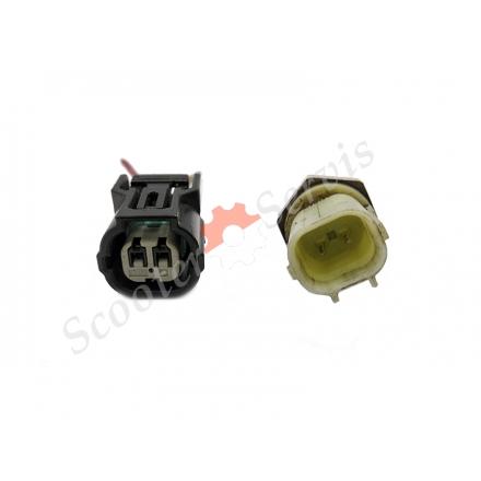 Датчик температуры в сборе с коннектором тип Honda, резьба 10мм, длина 25мм, Б/У