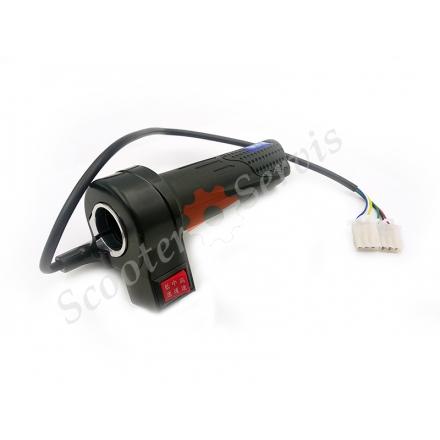 Ручка газа электрического транспорта, скутера, велосипеда, эргономическая, три скорости, реверс