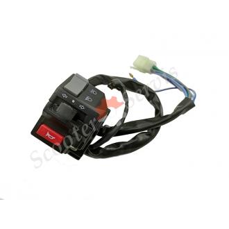 Пульт лівий алюмінієвий, блок управління покажчиком повороту, ближній дальнє світло, сигнал клаксона мотоцикла Zongshen, Viper, Shaneray, Geon, Lifan