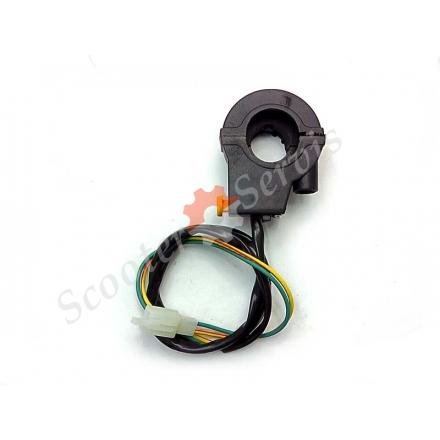 Кнопка включення стартера з кріпленням ручки газу і троса газу для квадроцикла, мотоцикла тип ендуро, позашляхового мотоцикла