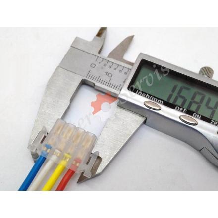 """Коннектор на 4 провода (мама), для  скутеров  переключателя света фар, ближнего / дальнего света фар,  """"подмигивания"""""""