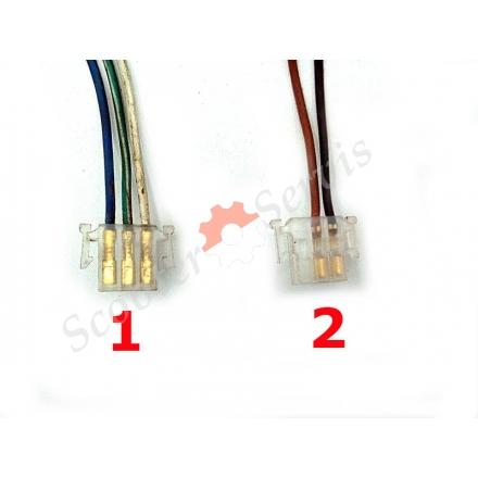 Конектор, роз'єм прямокутний, малий, з двома фіксаторами (тато 3)