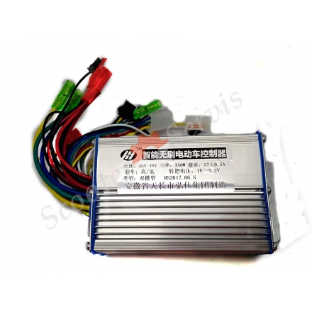 Контролер 36-48v / 350w / 17A для електроскутера, електровелосипеда, Електроквадроцикл