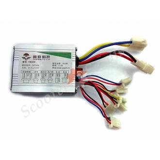 Контроллер 36V350W для электрического скутера, электрического самоката, электрического  квадроцикла, со щеточным двигателем