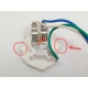 Патрон керамический для лампы BA20D (два уса)