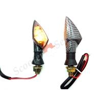 Повороты светодиодные под карбон, ПС-2, мотоцикл, квадроцикл, скутер