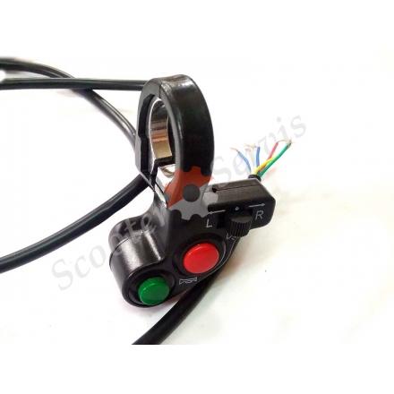 Пульт руля левый универсальный, кнопки поворотов, сигнал, ближний дальний свет, диаметр руля 22 мм