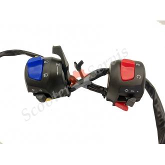 Пульты руля, переключатели, универсальные блоки управления мотоциклом, скутером под два троса газа