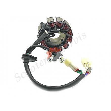 Генератор, статор максі скутера Yamaha Majesty 125/150, тип двигуна YP125, YP150, CYGNUS ZY125, XC125, 4KL