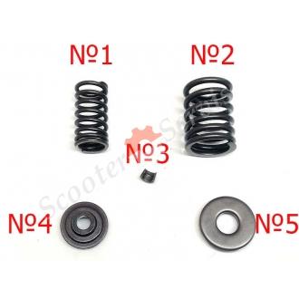 Частини клапанного механізму головки двигуна YP 250, 250-300 куб, тип Ямаха, Majesty, Leonardo, квадроцикл, Браво 260, Лаки 260, Бос 250, Спідгір 250, Nitro 250