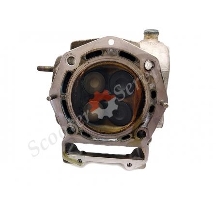 Головка с клапанами Aprilia Atlantic 500, Scarabeo 500, Piaggio Beverly 500 кубов, инжектор, Nexus X9, EVO X 10, MP3 500, ZAPM341, B500, разборка двигателя M341M