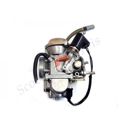 Карбюратор 250-300 куб на макси скутера Ямаха Маджести, YP-250 Yamaha Majesty 250, Лаки 260, Босс 250, квадроцикл