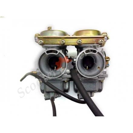 Карбюратор Mikuni, для двох циліндрових мотоциклів тип Geon Daytona 300, Геон Дайтона, Геон Хаммер, Geon Hammer, квадроцикла, 250-300 кубів двигун, здвоєний