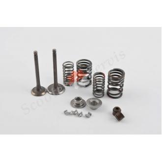 Ремонтний комплект головки блоку циліндра мотоцикла Yamaha YBR125, клапана, тарілки, сухарі, пружини, повний комплект