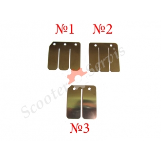 Пелюстки (пластини) пелюсткового клапана 2T скутер Yamaxa, Suzuki, Honda