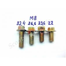 Болт резьба М8, длина 22-32,4мм под ключ 10мм