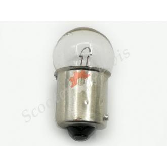 Лампа цокольна 12V 10W габарит, поворот один контакт