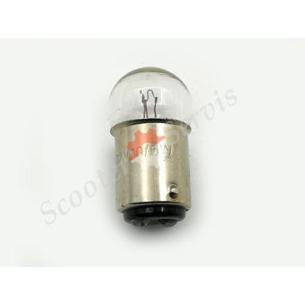 Лампа цокольна 12V 5W габарит, поворот двох контактна