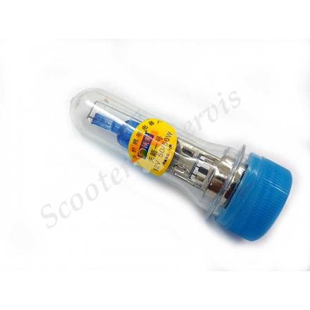 Лампа ксенон (имитация) супер яркий 12V 50/50W 2 уса, цоколь BA20D