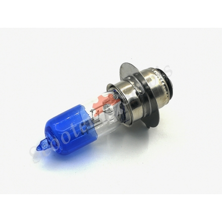 Лампа, ярко голубое свечение, 12V 35/35W, 1 ус P25, ближний-дальний свет
