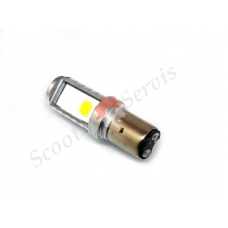 Светодиодная Led лампа два уса, тип цоколя BA20d, 9-100V 8-16W ближний/ дальний свет