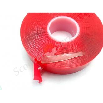 Двухсторонний скотч прозрачный силиконовый  50см, ширина 20мм