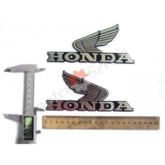 "Емблема ""Хонда крила"" об'ємна алюміній"