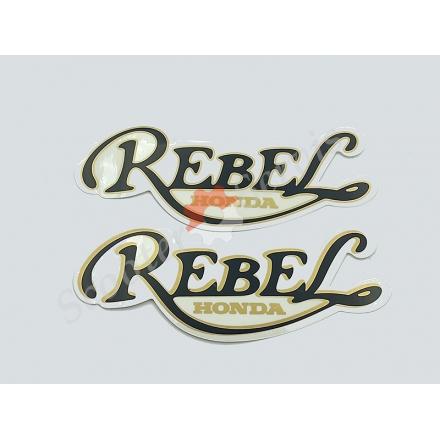 Наклейка на бак REBEL мотоцикла Хонда CA250, Honda CA250, Honda Rebel 250cc