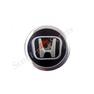 Логотип Хонда, Honda , алюминиевый, объёмный, круглый