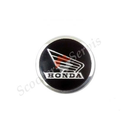 "Логотип Хонда, Honda ""крылья"", алюминиевый, объёмный, круглый"