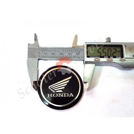 """Логотип Хонда, Honda, """"крила"""", алюмінієвий, об'ємний, круглий, діаметр 55 мм"""