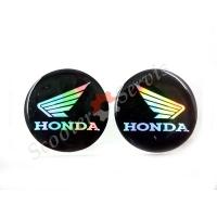Логотип Хонда, Honda, объёмная, силиконовая, перелив перламутр