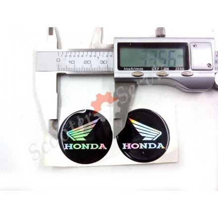 Логотип Хонда, Honda, об'ємна, силіконова, перелив перламутр