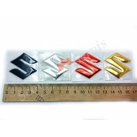 """Логотип """"S"""" Сузуки, Suzuki, объёмная силиконовая"""