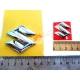 Логотип Сузуки, Suzuki, объёмная, пластик хромированный, 3 см, 5 см