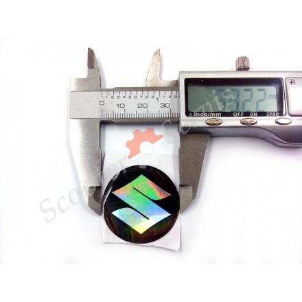 Логотип Сузукі, Suzuki, об'ємна, силіконова, діаметр 20 мм, 33 мм, 40 мм, 45 мм, перелив, перламутр