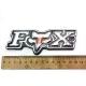 """Наклейка """"FOX"""" объемная хром 13 см..."""