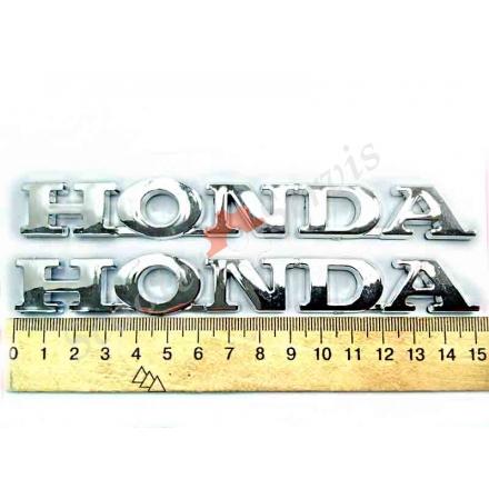 """Наклейка """"Honda"""" (Хонда) объёмная, хромированный пластик, (золото, чистый хром)"""