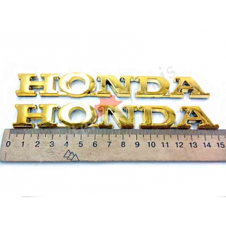 """Наклейка """"Honda"""" (Хонда) об'ємна, хромований пластик, (золото, чистий хром)"""